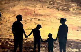 Familie - 50x50 cm