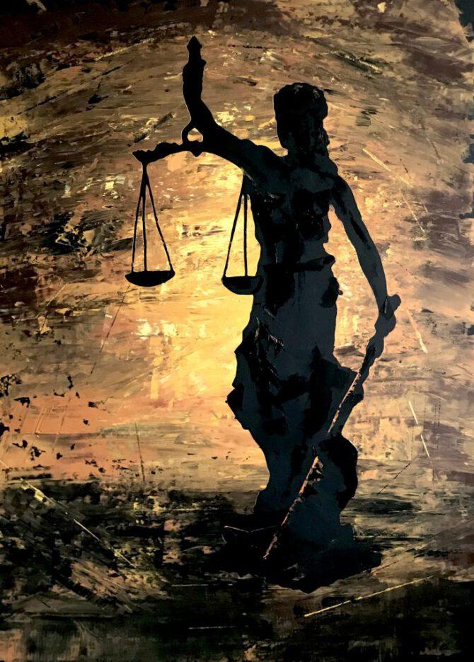 Justitia - 100x140 cm