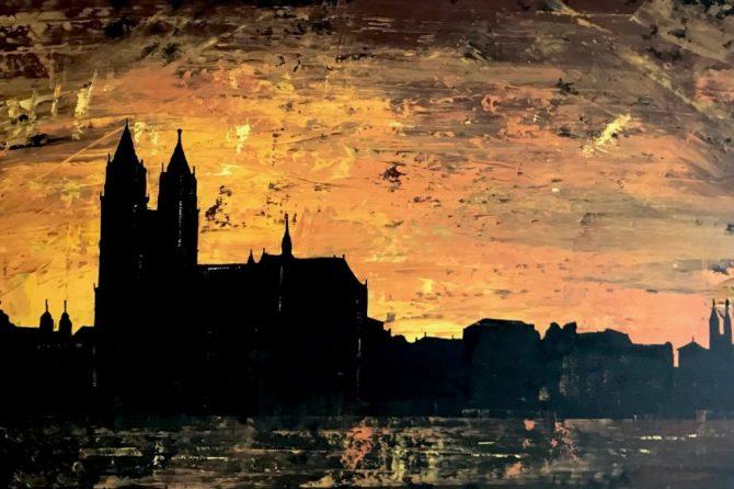 Skyline Magdeburg 2 - 80x120 cm